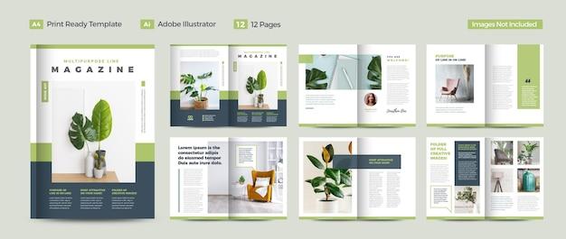 Multifunctioneel tijdschriftontwerp of urban lookbook design of digital ebook design