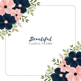 Multifunctionele achtergrond met mooi bloemenframe