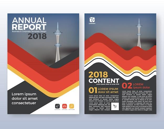 Multifunctionele corporate business flyer layout design. geschikt voor flyer, brochure, boekomslag en jaarverslag. rood en zwart kleurenschema in a4 formaat lay-out sjabloon achtergrond met bloeden.