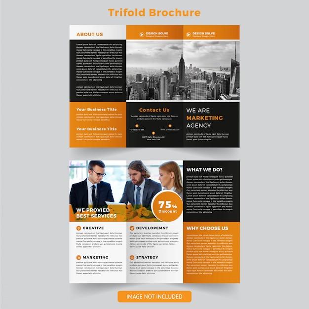 Multifunctionele driebladige brochure