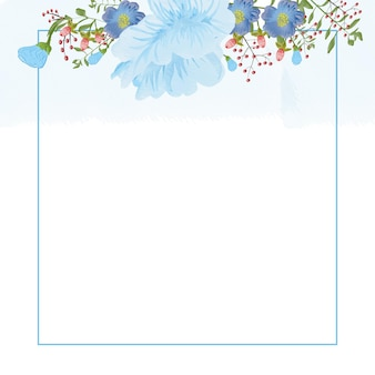 Multifunctionele kaartsjabloon met abstracte aquarel achtergrond sjabloon voor bruiloft wenskaarten
