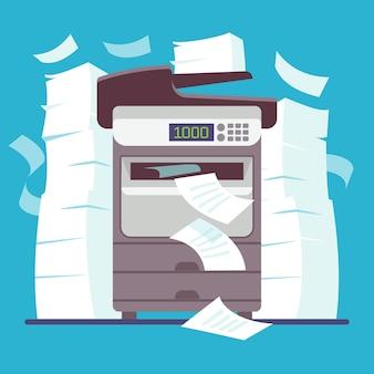Multifunctionele kantoorprinter, computerscanner afdrukken en kopiëren van papieren documenten