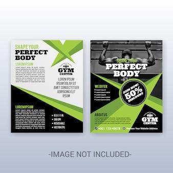 Multifunctionele moderne zakelijke omslag en flyer-sjabloon