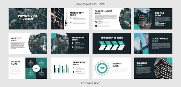 Multifunctionele presentatiesjabloon voor bedrijven
