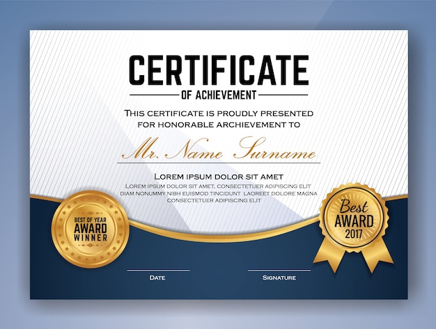 Multifunctionele professional certificate template design voor print. vector illustratie