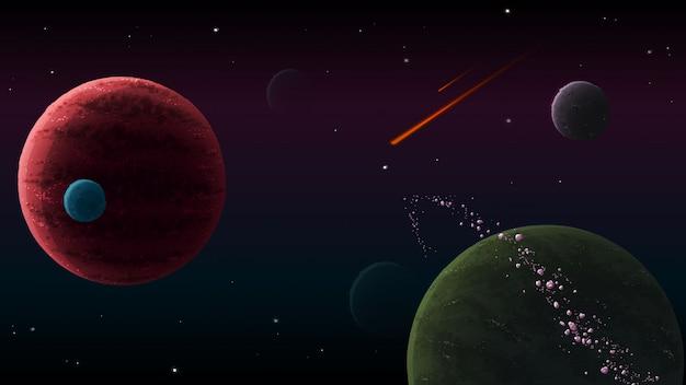 Multifunctionele ruimteachtergrond
