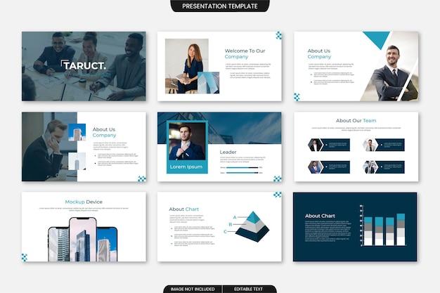 Multifunctionele zakelijke diapresentatiesjabloon 9 pagina's