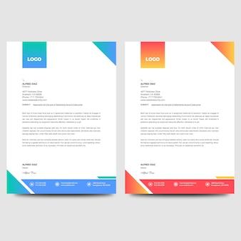 Multikleur bedrijfs letterheader template