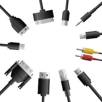 Multimedia kabels ronde samenstelling