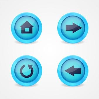 Multimedia knoppen ontwerp