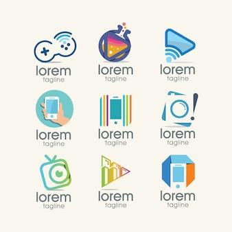 Multimedia logo templates-collectie