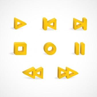 Multimedia speler pictogrammen