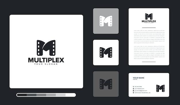Multiplex logo ontwerpsjabloon Premium Vector