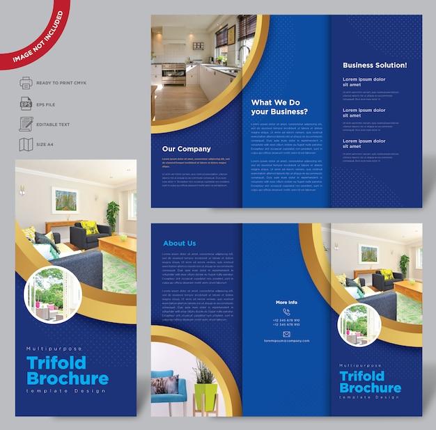 Multipurpuse driebladige brochuremalplaatje