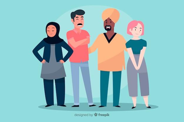Multiraciale groep mensen achtergrond