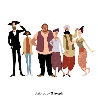Multiraciale groep van verschillende mensen