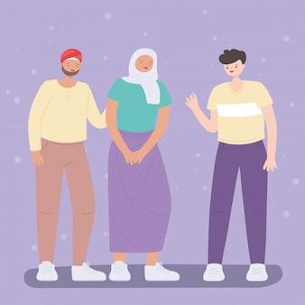 Multiraciale lgbtq-gemeenschap