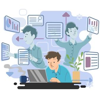 Multitasking-concept
