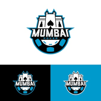 Mumbai poker team logo vector download