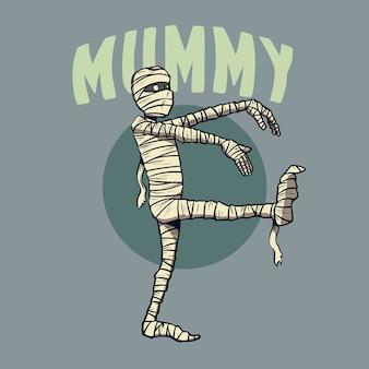 Mummie karakter voor halloween
