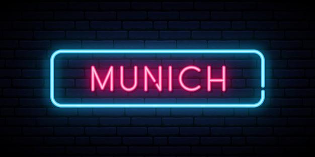 München neonreclame.