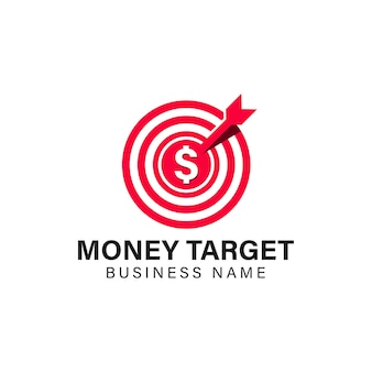 Munt doel pictogram logo ontwerpelement