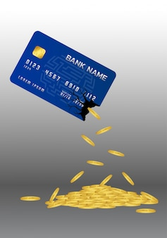 Munten schenken uit de creditcard