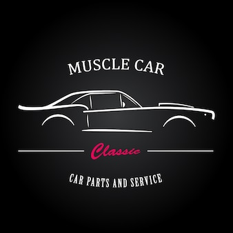 Muscle auto silhouet