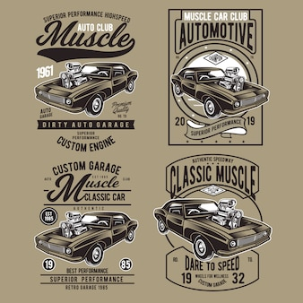 Muscle car badge