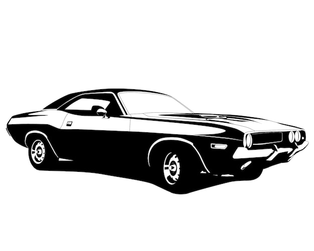 Muscle car silhouet