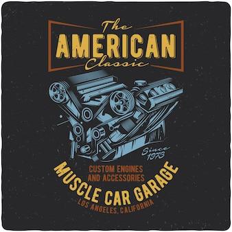 Muscle motor van een auto