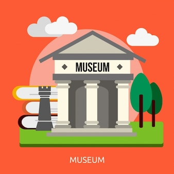 Museum achtergrond ontwerp