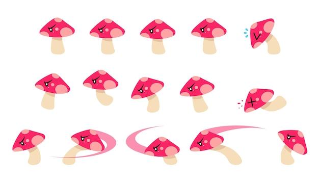 Mushroom enemy game sprites