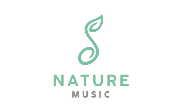 Music nature logo ontwerp
