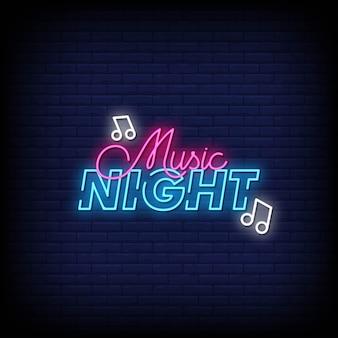Music night neon singboard