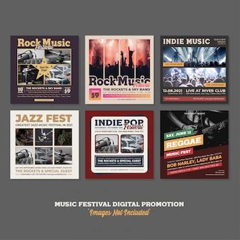Music party event festival digitale promotie