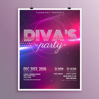 Music party flyer template in a4-formaat