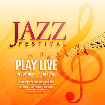 Musical event flyer poster achtergrond ontwerp