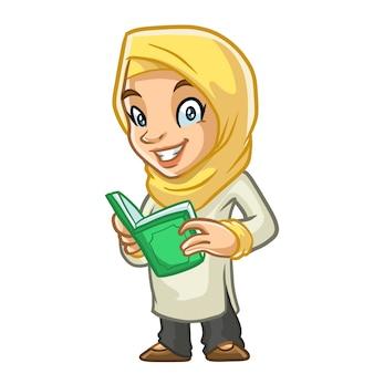 Muslimah ramadan mascot design