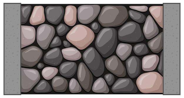 Muur gemaakt van rotsen