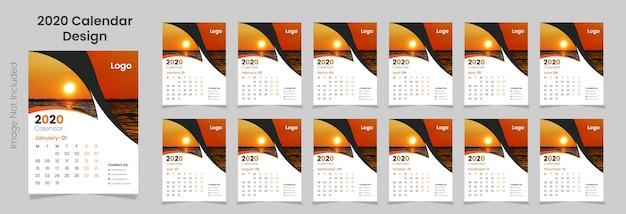 Muur kalender sjabloon