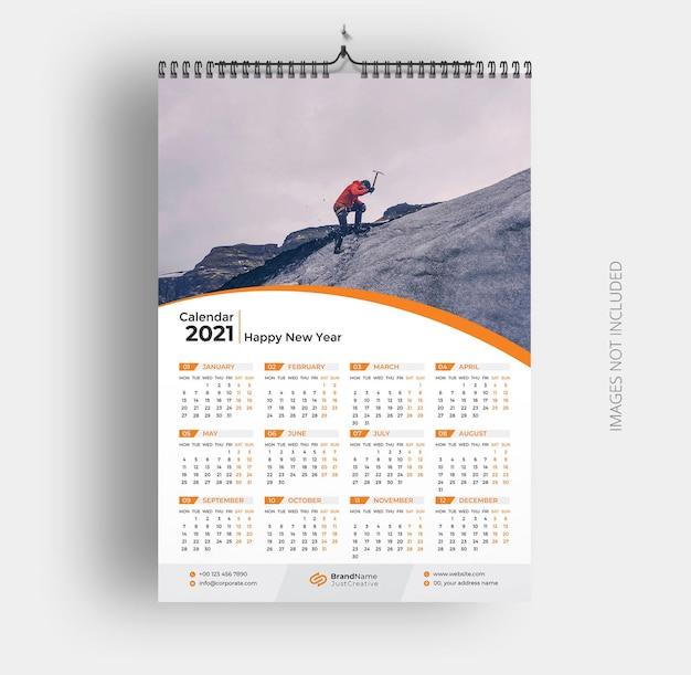 Muur kalendersjabloon