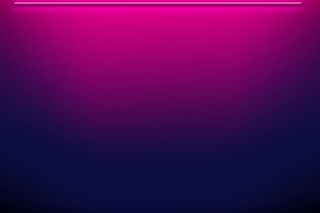 Muur op neonlichtgradiëntachtergrond
