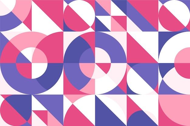 Muurschildering behang geometrische stijl