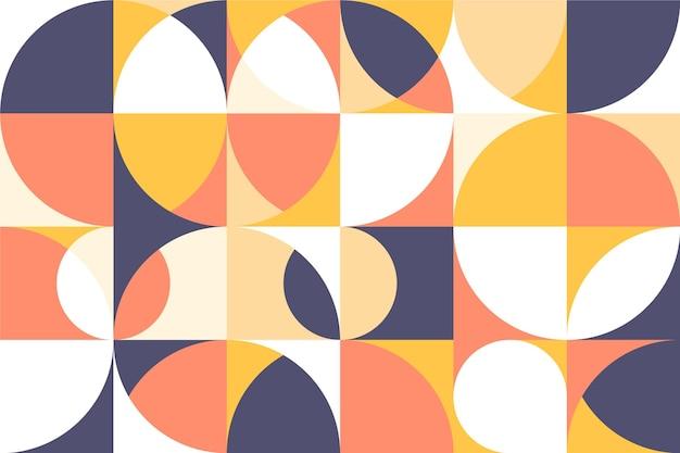 Muurschildering behang geometrische vormen