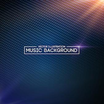 Muziek abstract blauw als achtergrond.
