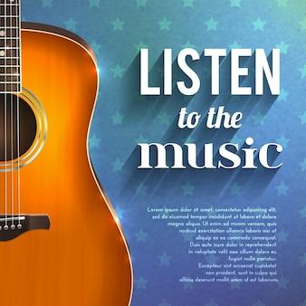 Muziek achtergrond met gitaar