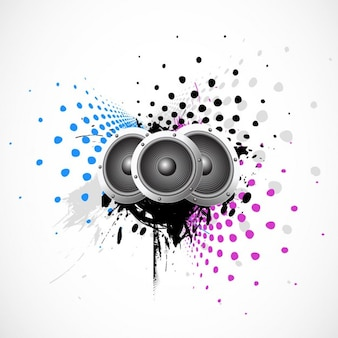 Muziek achtergrond met sprekers