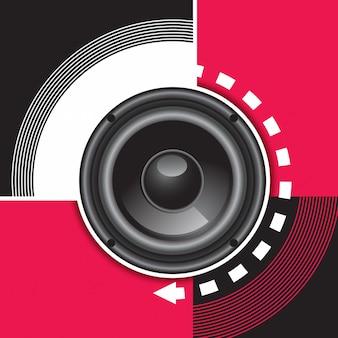 Muziek achtergrondontwerp