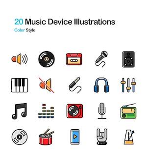 Muziek apparaat kleur illustratie